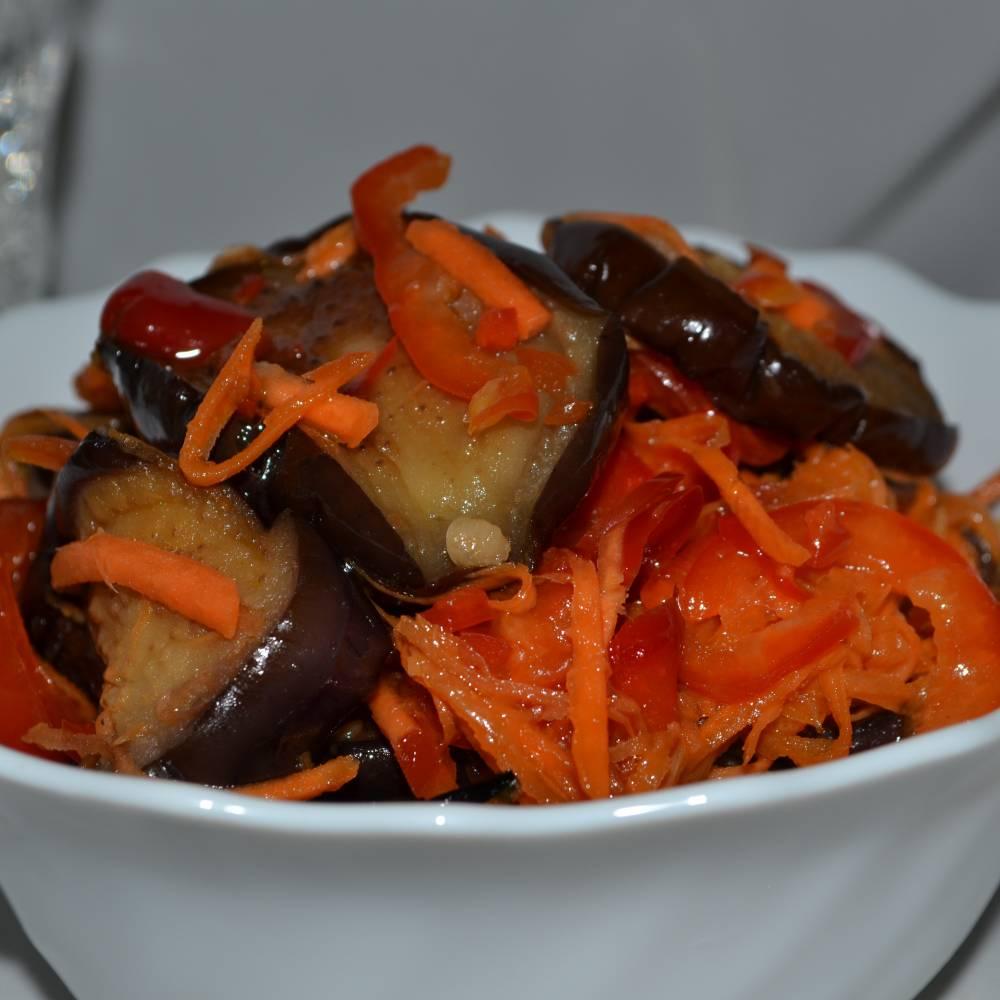 Баклажаны по корейски рецепт с фото пошагово