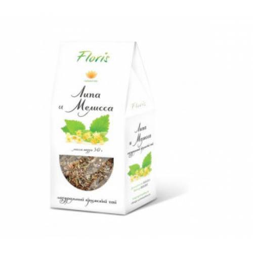 Чай травяной FLORIS Липа, Мелисса 30 г