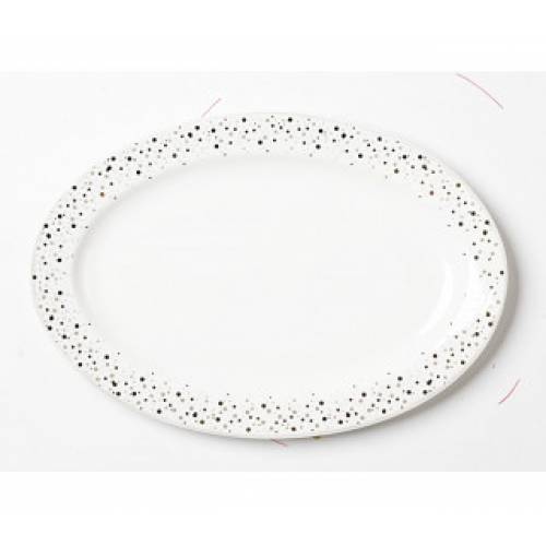 Блюдо CONFETTI овальное фарфор, 36,5см
