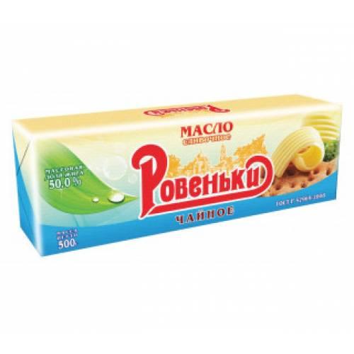 Масло сливочное РОВЕНЬКИ 50%, 500г